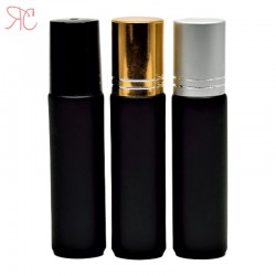 Recipient roll-on negru, 10 ml