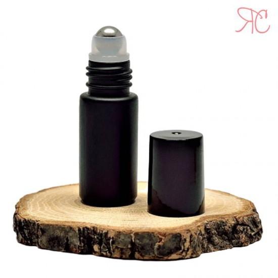 Recipient roll-on negru, 5 ml
