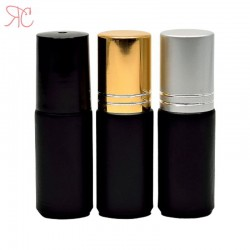 Recipient roll-on negru, 5 ml