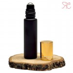 Recipient roll-on negru, suport negru biluta, 10 ml
