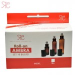Set recipient roll-on ambra, 10 ml (10 bucati)