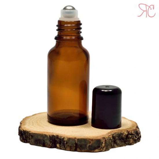 Sticla ambra cu roll-on, 30 ml