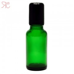 Sticla verde cu roll-on, 20 ml