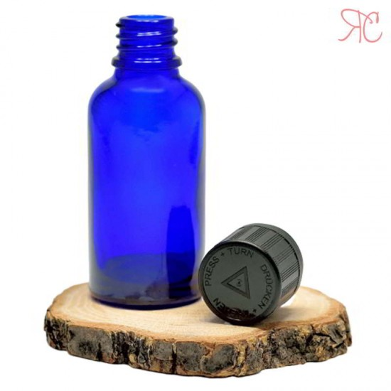 Sticla albastra, capac childproof, 100 ml