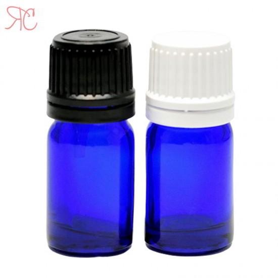Sticla albastra cu picurator, 5 ml