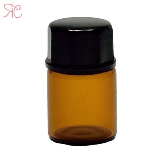 Sticla ambra, picurator si dubla inchidere, 2 ml
