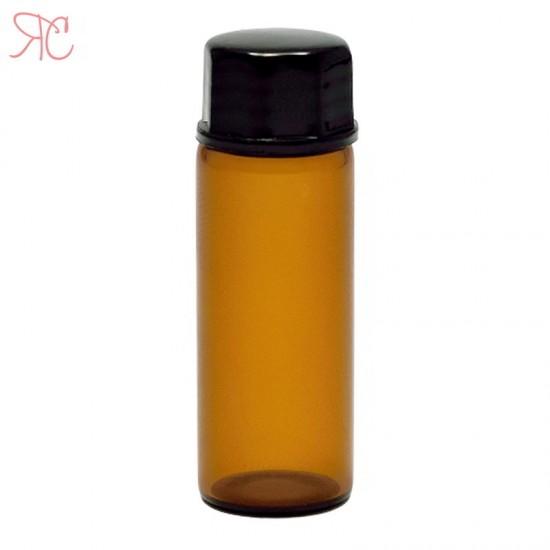 Sticla ambra, picurator si dubla inchidere, 5 ml
