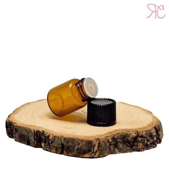 Sticla ambra cu picurator, 1 ml