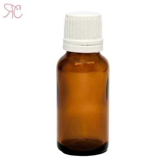 Sticla ambra cu picurator, 20 ml