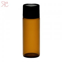 Amber glass bottle with dropper, 5 ml