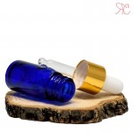 Blue glass bottle with pipette, 5 ml