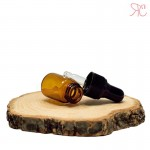 Amber glass bottle with pipette, 2 ml