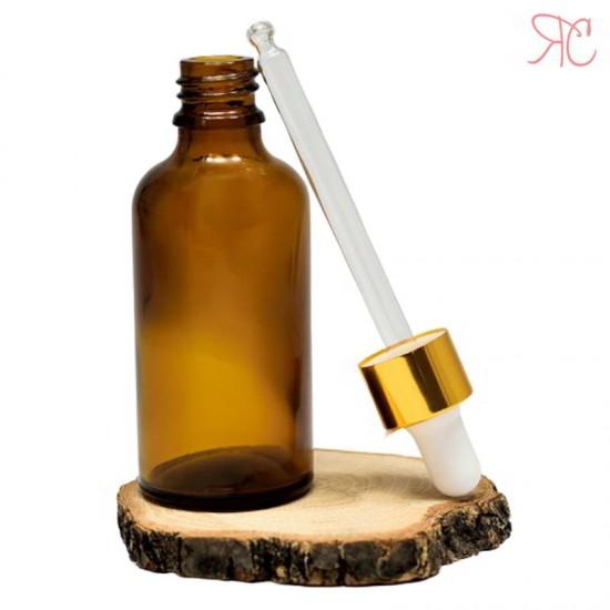 Sticla ambra cu pipeta, 50 ml