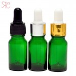 Green glass bottle with pipette, 20 ml