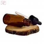 Amber glass bottle with pipette, 20 ml (warranty ring)