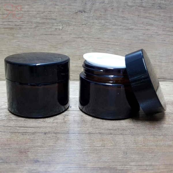 Borcan din sticla ambra, 30 ml