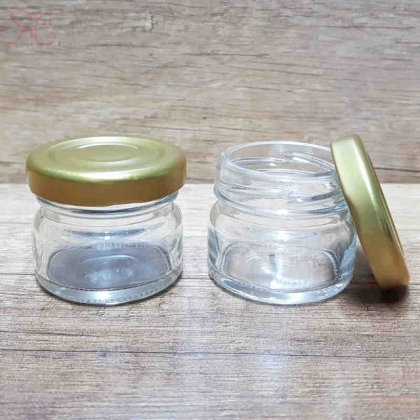 Borcan Aura din sticla transparenta, 30 ml