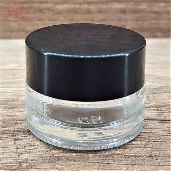 Borcan din sticla transparenta, 5 ml