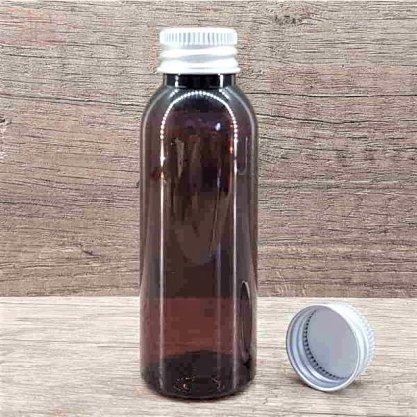 Flacon ambra, capac aluminiu, 50 ml
