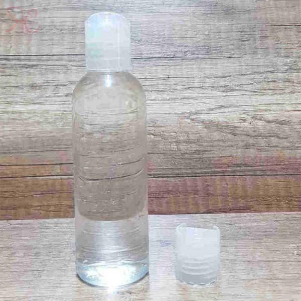 Flacon transparent, capac disc-top, 100 ml