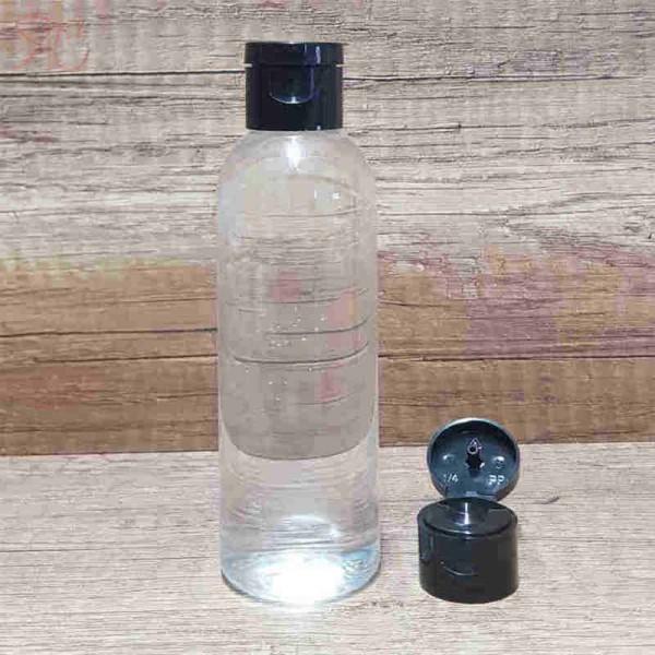 Flacon transparent, capac flip-top, 100 ml