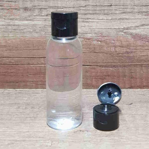 Flacon transparent, capac flip-top, 50 ml