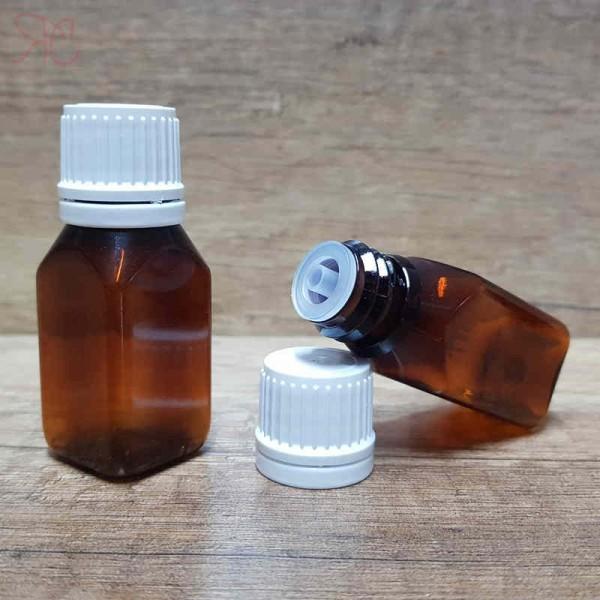 Flacon ambra Square, capac cu picurator,15 ml