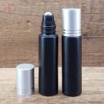Recipient roll-on negru, suport negru biluta, 10 ml