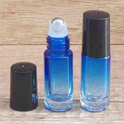 Recipient roll-on sticla albastra degrade, 5 ml