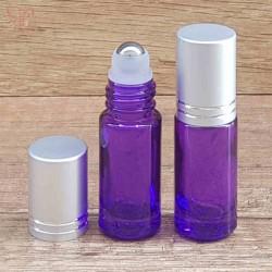 Recipient roll-on violet, capac argintiu, 5 ml