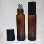 Recipient roll-on din sticlă ambra, 10 ml