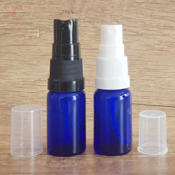 Sticla albastra cu pompa pulverizatoare, 10 ml
