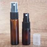 Sticla ambra de parfum cu pulverizator, 5 ml