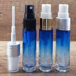 Sticla albastra degrade de parfum cu pulverizator, 10 ml