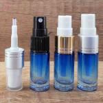 Sticla albastra degrade de parfum cu pulverizator, 5 ml