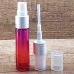 Sticla rosu-roz de parfum cu pulverizator, 10 ml