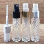 Sticla cu striatii, transparenta, de parfum cu pulverizator, 10 ml
