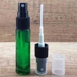 Sticla verde de parfum cu pulverizator, 10 ml