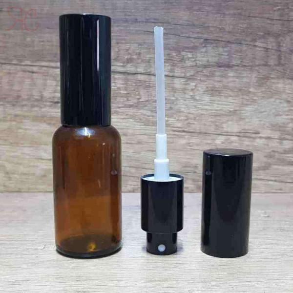 Sticla ambra de parfum cu pulverizator, 30 ml
