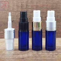 Sticla albastra de parfum cu pulverizator, 5 ml