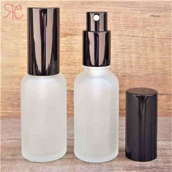 Sticla alba frosted de parfum cu pulverizator, 30 ml