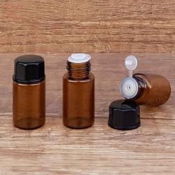 Sticla ambra, picurator si dubla inchidere, 3 ml