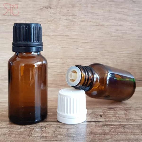 Sticla ambra cu picurator, 15 ml