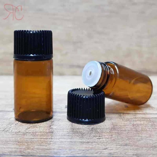 Sticla ambra cu picurator, 3 ml