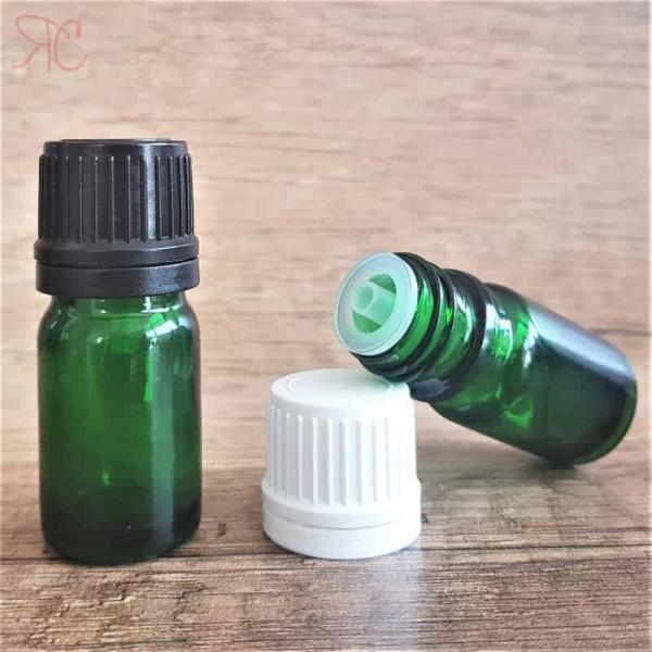 Sticla verde cu picurator, 5 ml