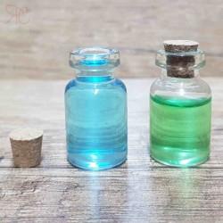 Sticla transparenta, capac din pluta, 2 ml