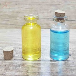 Sticla transparenta, capac din pluta, 3 ml