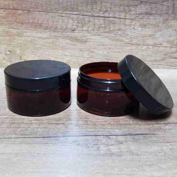 Cutie ambra, capac negru, 100 ml