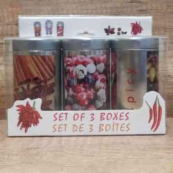 Set 3 cutii aluminiu