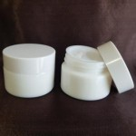 Borcan alb din ceramică, 30 ml